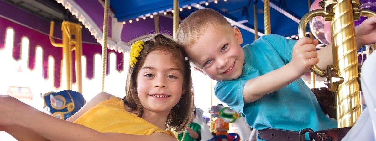 kids on a carousel